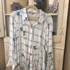 🌟Free People Floral Top- NWT